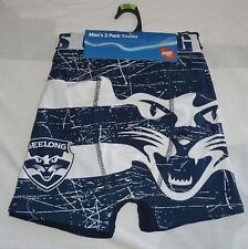 2 x MENS size  L XL or XXL AFL GEELONG CATS boxer short boxers NEW TRUNKS