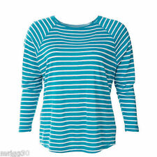 Ladies MODA Plus size 20 or 22 RAGLAN  layering top NEW  ENAMEL  & white striped