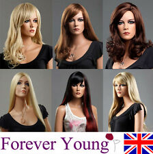 Ladies Long Blonde Wig Hair Red Black Brown Wigs Forever Young Fashion Wigs