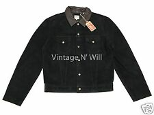 Levis Vintage Clothing LVC 1960s Black Suede/Brown Leather Collar Trucker Jacket