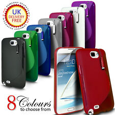 S LINE WAVE GEL CASE COVER & FILM & MINI STYLUS FOR SAMSUNG GALAXY NOTE 2 N7100