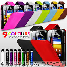 LEATHER FLIP SKIN CASE COVER, SP & MINI STYLUS PEN FOR SAMSUNG GALAXY Y S5360