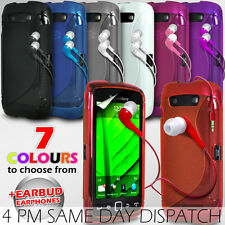 S LINE WAVE GEL SKIN CASE COVER & EARPHONE FOR BLACKBERRY TORCH 9860