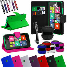 Stand Wallet Flip Case Cover, LCD Film, Stylus Pen & Speaker For Nokia Lumia 530