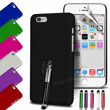 HARD BACK SKIN CASE COVER, SCREEN GUARD & STYLUS PEN FOR APPLE IPHONE 6 PLUS