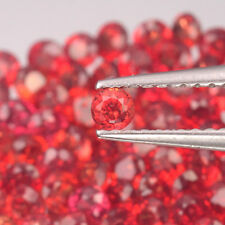 2.2mm Lot 6,10,20,50pcs Round Diamond Cut Calibrated Natural Orange Red SAPPHIRE