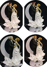Blond Hair Bride Wedding cake topper PICK Blond, Red or Brown hair Groom
