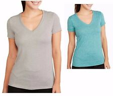 NEW Danskin Now Women's Active Short Sleeve Dri-More V-Neck Semi-Fitted Tee XS