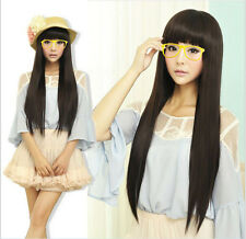 Women's Girl Cosplay Party Long Straight Hair Wigs Lolita Full Wig Fashion Wigs
