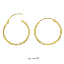 Gold Plated Sterling Silver Hinged Sleeper Endless Hoop Earrings Conncetor 20mm