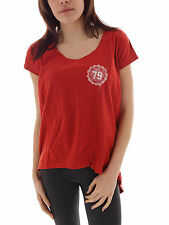 Brunotti T - Shirt Top Bantar red Crew Neck Breast Pocket Mullet