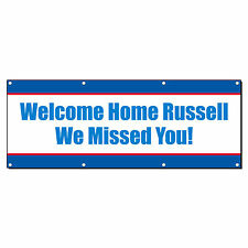 WELCOME HOME WE MISSED YOU MILITARY CUSTOM 13oz Vinyl Banner Sign