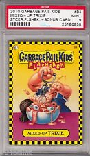 GARBAGE PAIL KIDS FLASHBACK MIXED UP TRIXIE PSA 9 MINT BONUS CARD B4 2010 RARE