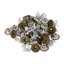 50Sets No Sew Replacement Metal Tack Snap Fastener Studs Jean Pants Buttons 17mm
