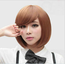 New Straight Short Bob Hair Wigs Women's Fashion Cosplay Costume Party Wig+Cap