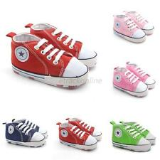 Fashion Baby Boys Girls Soft Sole Crib Shoes Toddlers Sneakers Prewalkers 0-18M