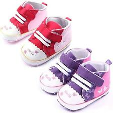 Baby Girls Butterfly Soft Sole Crib Shoes Infant Toddler Sneakers Newborn to 18M