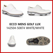 New Ecco Mens Golf Shoes Lux Classic ZARMA Spike White $300 142504-50874
