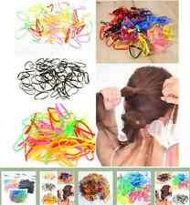 300pcs Rubber Hairband Braids Rope Ponytail Holder Elastic Hair Band Ties IFA