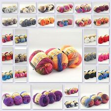 Sale New 3 Skeins x50g Chunky Rainbow Colorful Knitting Scores Hand Wool Yarn
