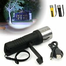 Camping Hiking Emergency Hand Crank Dynamo Flashlight Torch Light Lamp Zoomable