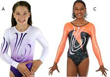 NEW!! Arcing Gymnastics Competition Leotard by Snowflake Designs