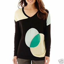Worthington Long-Sleeve V-Neck Sweater Size S, L, XL New With Tags