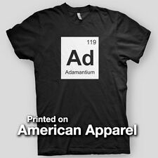 Adamantium periodic table X-Men Wolverine Marvel Hero AMERICAN APPAREL T-Shirt