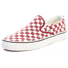 Vans Classic Mens Canvas Red White Trainers