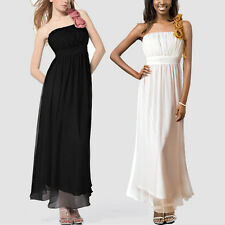 Chiffon Empire Flower Bridesmaid Wedding Party Cocktail Occasion Evening Dress