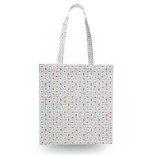 Shabby Chic Florals on Blue Canvas Tote Bag - 16x16 inch Book Gym Bag