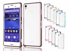 Ultra-thin Buckle Metal Bumper Frame Cover pouch Skin case For Sony Xperia Z3