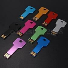 Waterproof 32GB 64GB Metal Thin Key Storage USB Flash Drive Memory Stick U Disk