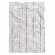 Hipster Arrows Doodled Fleece Blanket - Baby Soft Faux Fur Throw