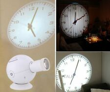 Good LED Analogue Projection Cold Light Beam Virtual Shadow Bedroom Wall Clock