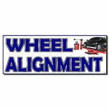 Wheels Alignment 13 Oz Vinyl Banner Sign With Grommets