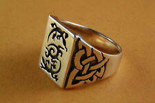 Solid Salamander Gecko Ring Celtic Tribal Silver Ring 925 Silver /418