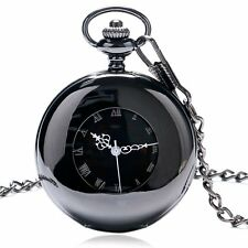Fashion New Steampunk Smooth Mechanical Hand Wind Pocket Watch Chain Mens Womens