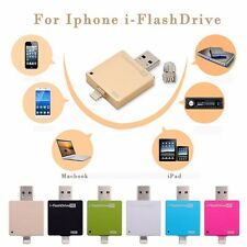 USB 8GB 16GB 32GB 64GB i-Flash Drive HD OTG Memory Stick Device for iPhone iPad