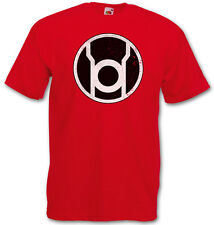THE BIG RED LANTERN BANG THEORY LOGO T-SHIRT - Sheldon TBBT Nerd TV Cooper Green