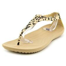 Crocs Sexi Leopard Print Flip Women  Open Toe Synthetic  Thong Sandal
