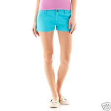 Arizona Bedford Cord Shorts Junior Size 0, 1, 19 New Msrp $34.00 Scuba Blue