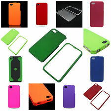 For Apple iPhone 4S / 4 - Slim  Hard Rubberized Shell Phone Accessory Cover Case