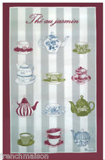 BEAUVILLE Dish/Kitchen Towel Gift New FRENCH JASMINE TEA Pot Cups + FREE GIFT