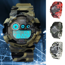Sport Men's LED Digital Military Army Date Camouflage Analog Quartz Wrist Watch