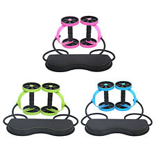 Abdominal AB Roller Wheel Handle Workout Home Gym Fitness Exercise Equipment