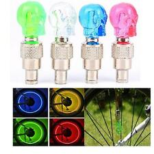 New Skull Flashing Glow LED Valve Cap Light Wheel Tyre Lamp Car Auto Bike SP