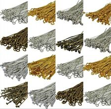 100Pcs Silver/Gold/Copper/Bronze Color Metal Head Pins Jewelry Finding 20-70mm