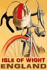 BICYCLE ISLE OF WIGHT CYCLING ENGLAND BIKE RIDE BIKING VINTAGE POSTER REPRO