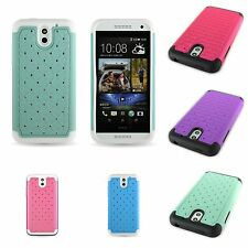 For HTC Desire 610 Case Hybrid Protective Diamond Bling Rhinestone phone Cover